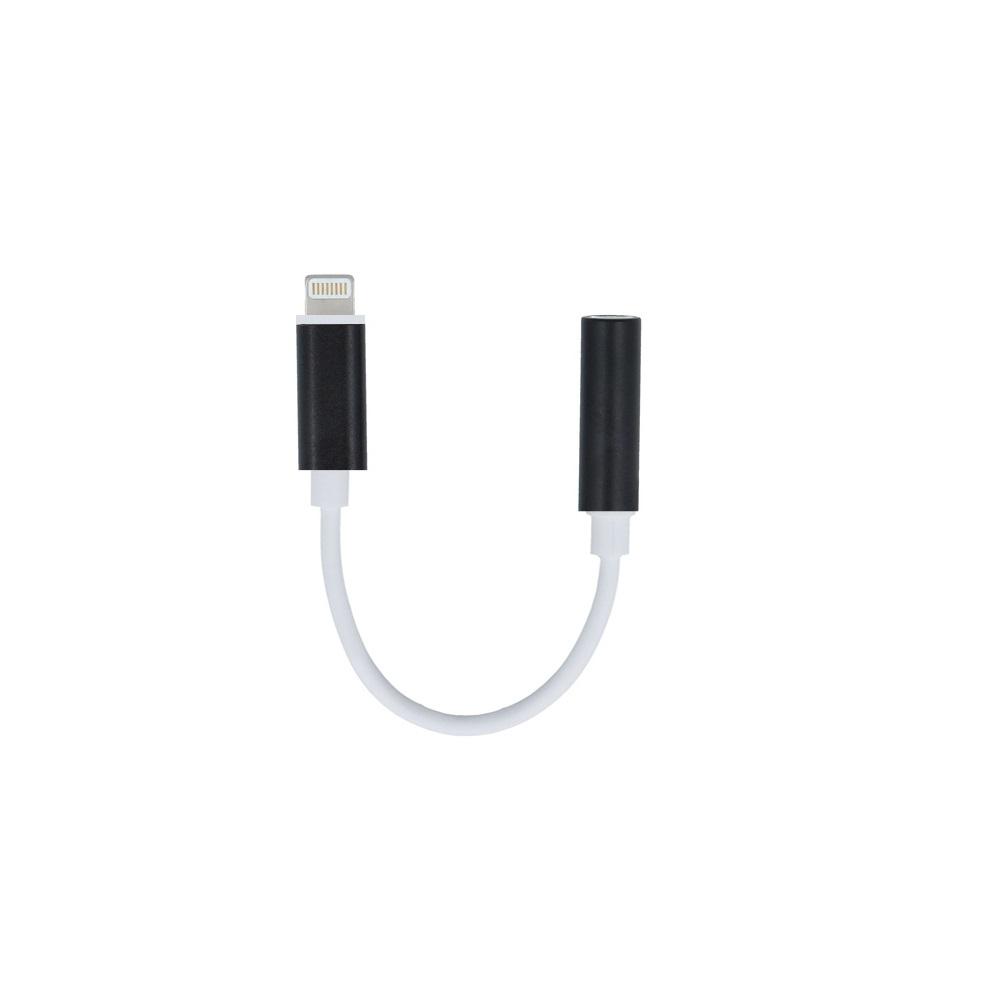 Lightning-audio jack 3,5 mm átalakító fekete