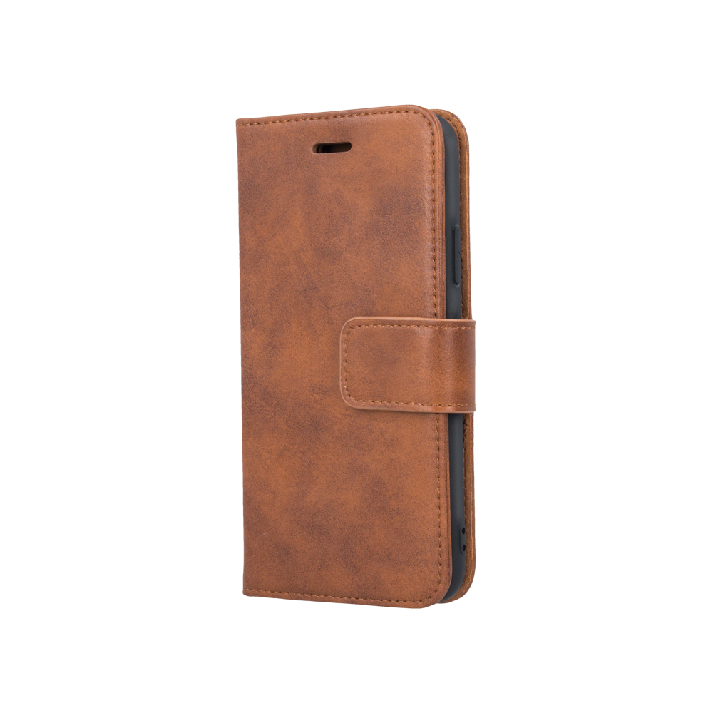 iPhone XR Forever Classic Leather kinyitható tok, barna