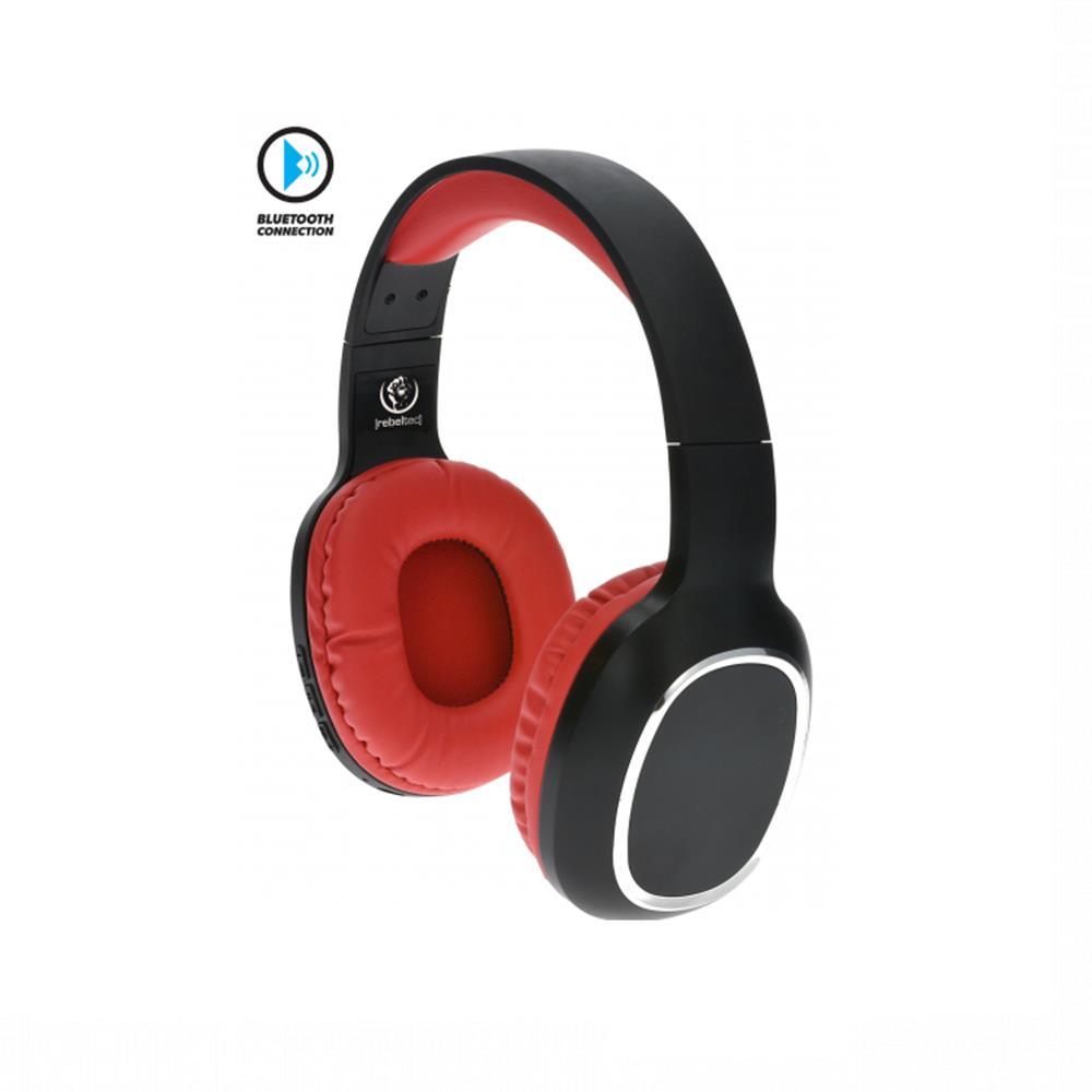 Rebeltec Wave vezeték nélküli fejhallgató, piros-fekete