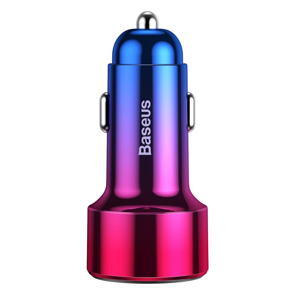 BaseusMagic PPS autós töltő QC 4.0+ USB + PD 45W, piros