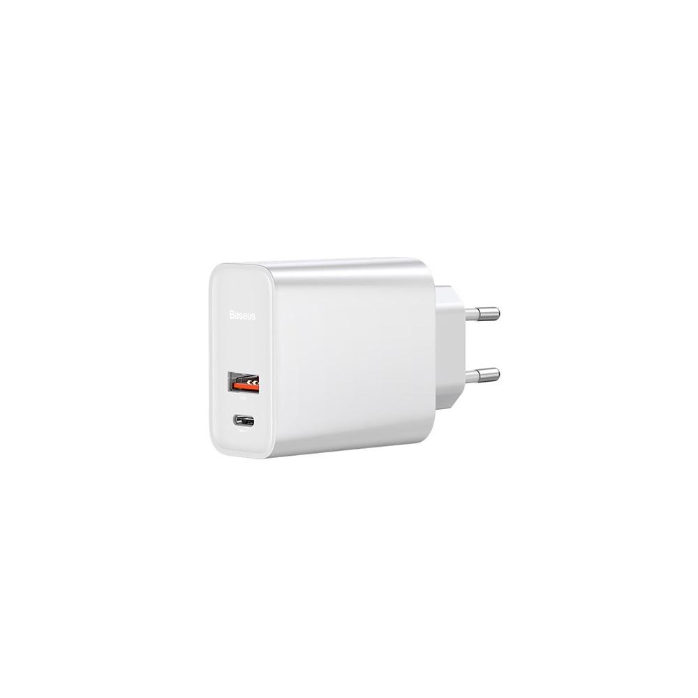 Baseus fali töltő PPS QC USB + PD 30W fehér
