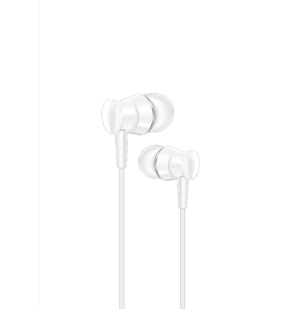 XO vezetékes fülhallgató S25 3,5mm jack, fehér