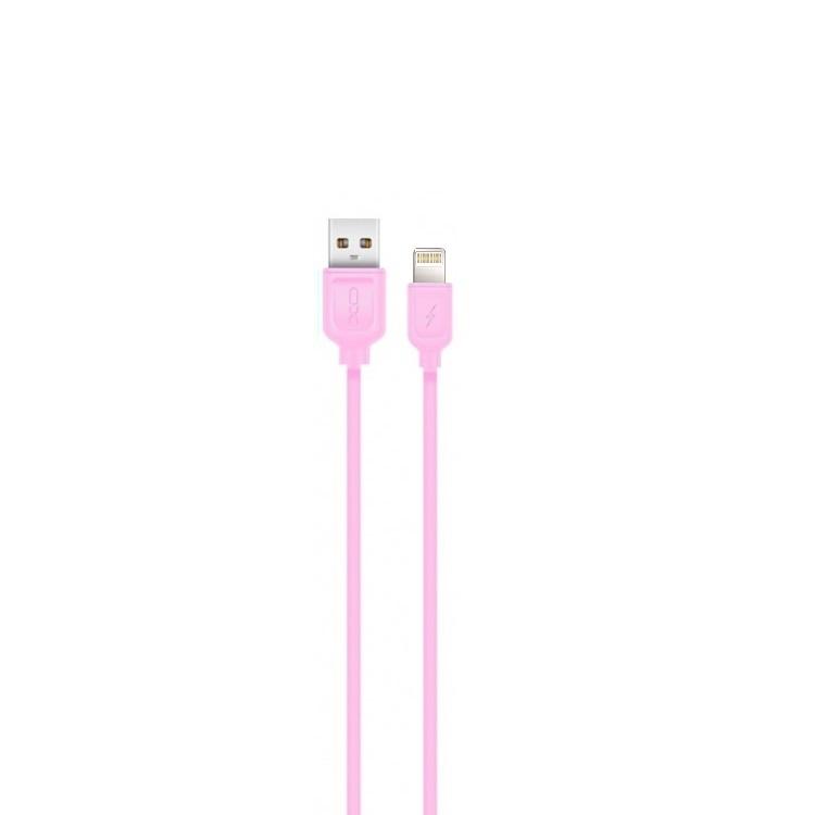 XO Lightning kábel NB36 rózsaszín 2,1A 1m