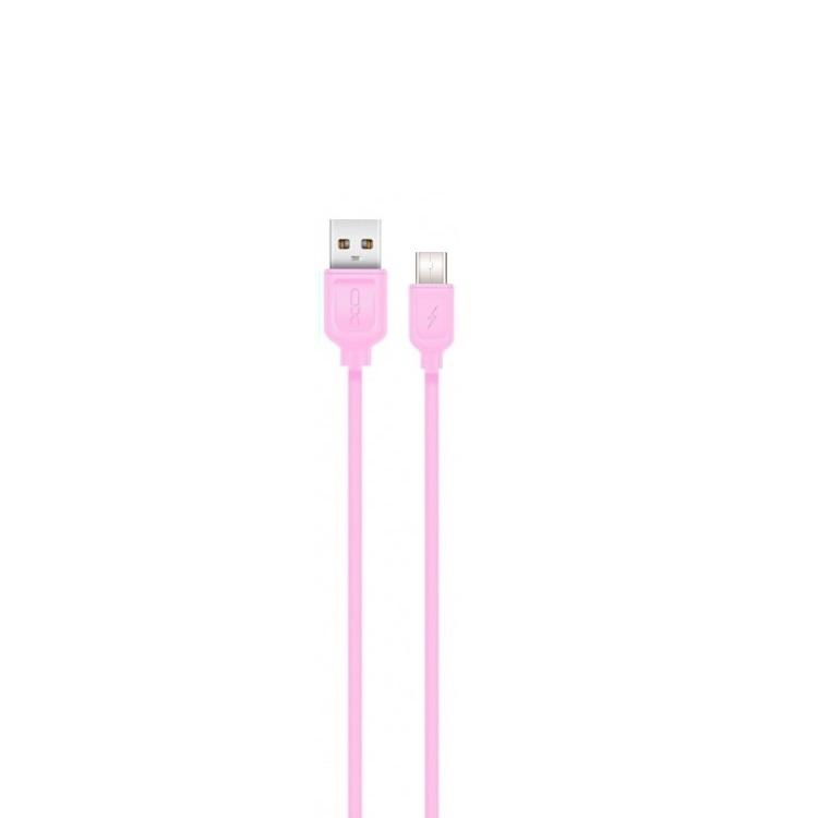 XO USB-C kábel NB36 rózsaszín 2,1A 1m