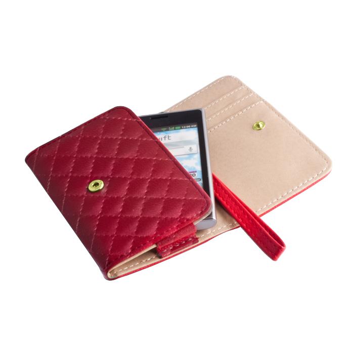 OEM pénztárca tok Pik XXXL Samsung Note 2 piros