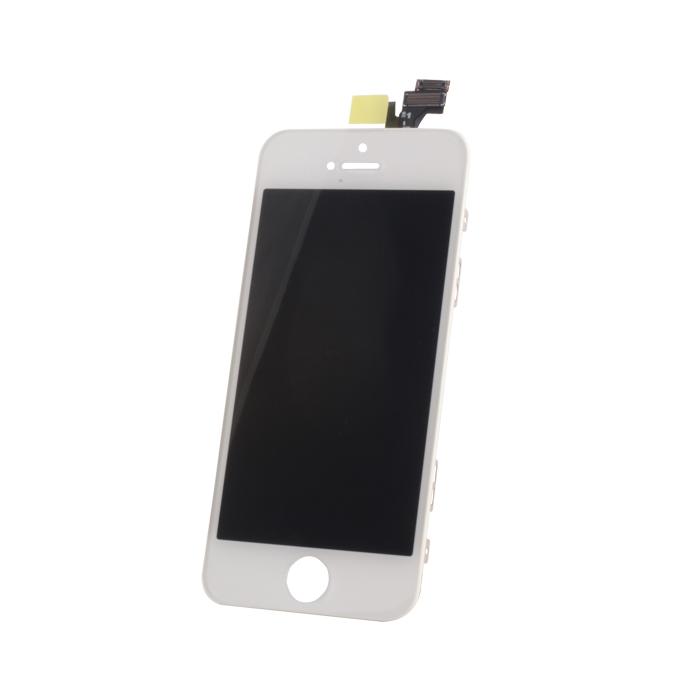 iPhone 5 LCD kijelző + érintőpanel, fehér, AAA minőség, TM