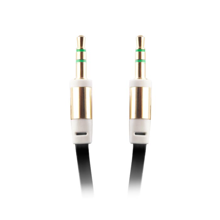 Audio kábel 3,5mm jack-3,5mm jack, fekete