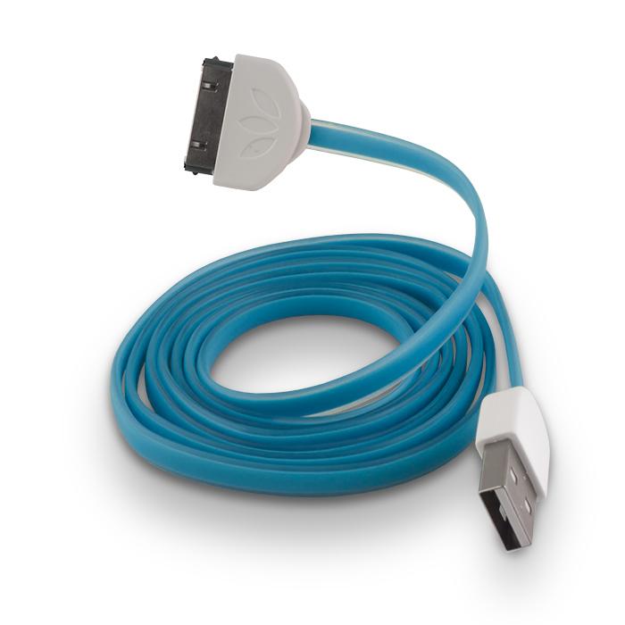 Forever 30-pin kábel kék szilikon 1 m