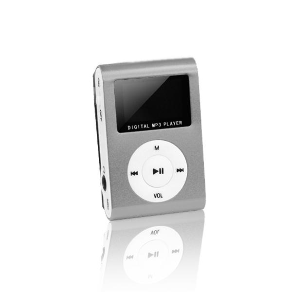 Setty mp3 LCD-vel + fülhallgató ezüst