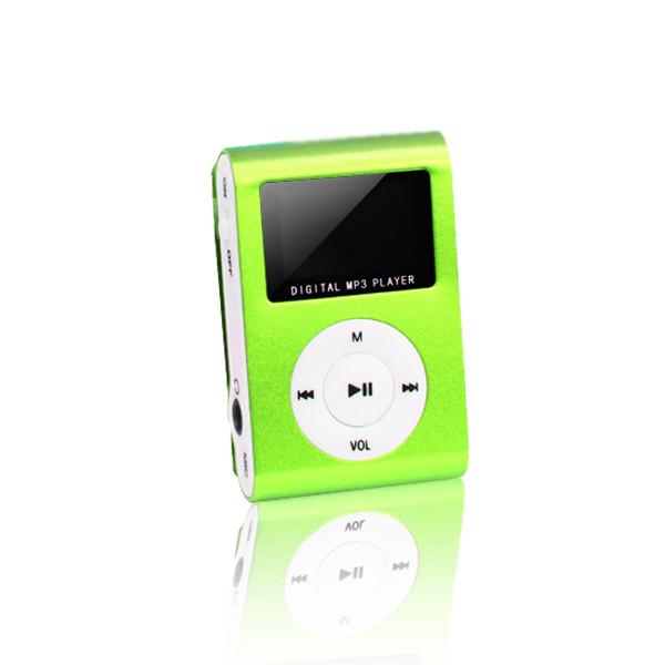 Setty mp3 LCD-vel + fülhallgató zöld