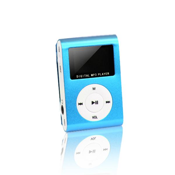 Setty mp3 LCD-vel + fülhallgató kék