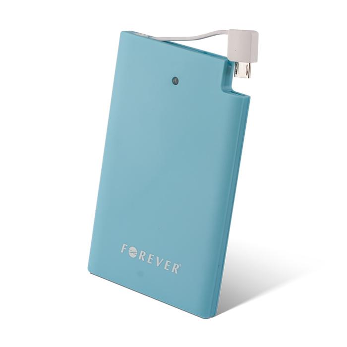 Forever Power bank/külső akkumulátor PB-014 2500mAh vékony, kék