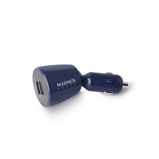 Madsen autós töltő micro-usb kék színű
