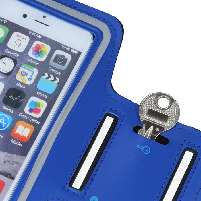 "Premium telefontok karpánttal 6,0"" (Huawei P30, Sam S10, Sam S9,Note 3), kék"