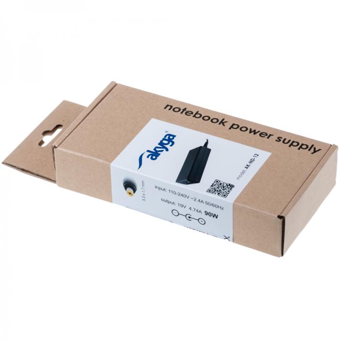 Akyga tápegység Acer laptopokhoz AK-ND-12