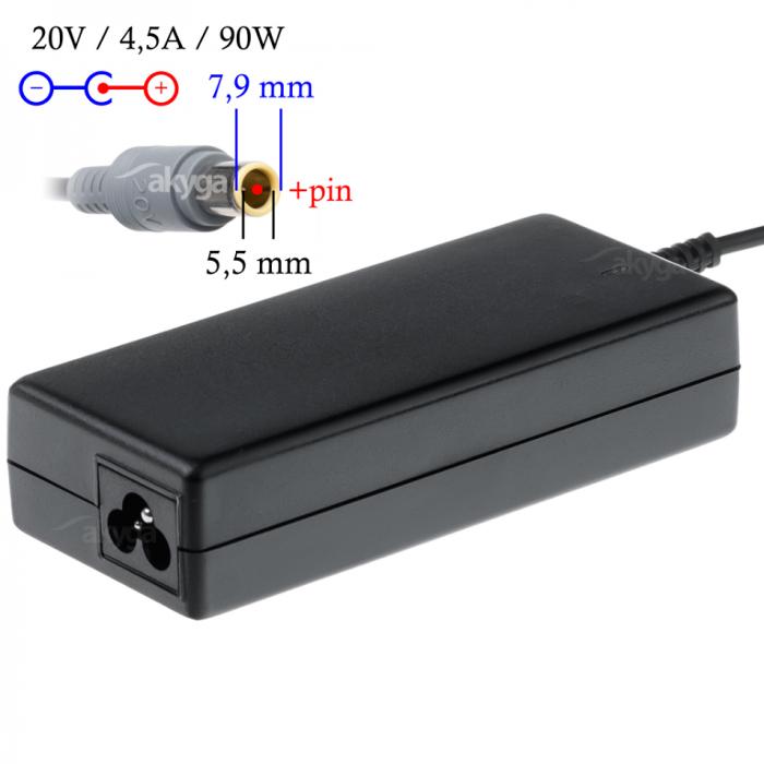 Akyga tápegység laptopokhoz 20V/4,5A/90W DC7DC7