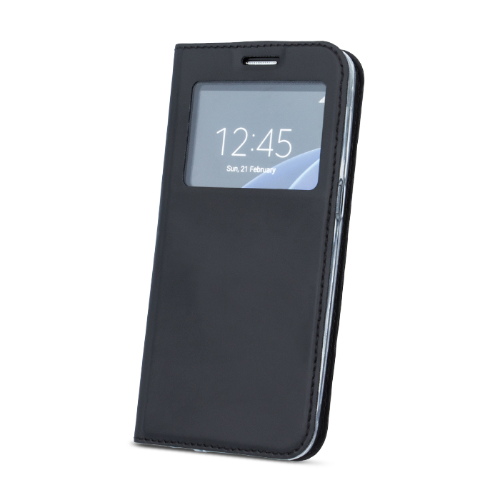 LG K10 2017 intelligens megjelenésű tok fekete