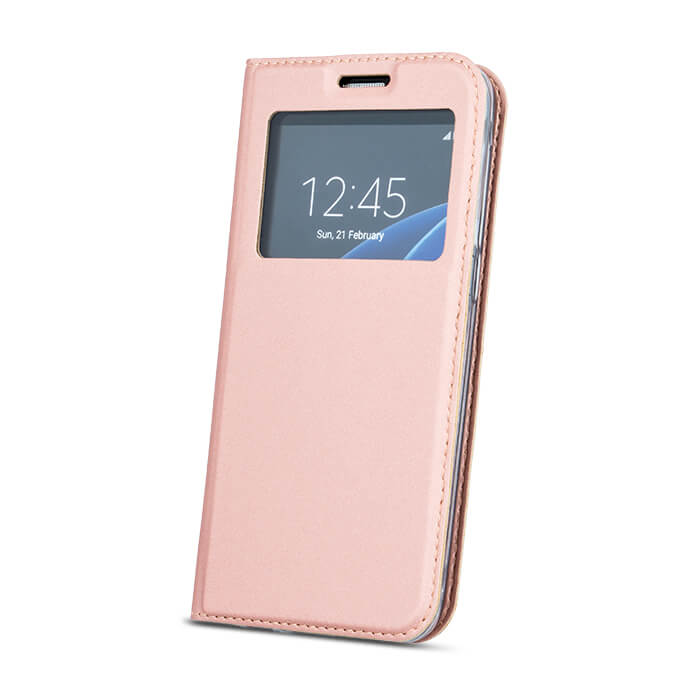 LG K10 2017 intelligens megjelenésű tok rózsaarany