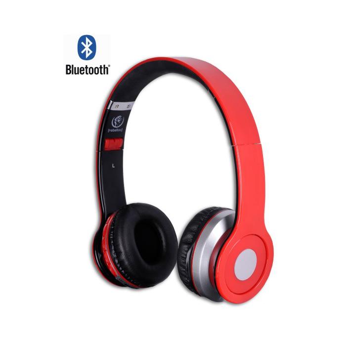 Rebeltec Crystal vezeték nélküli fejhallgató, piros