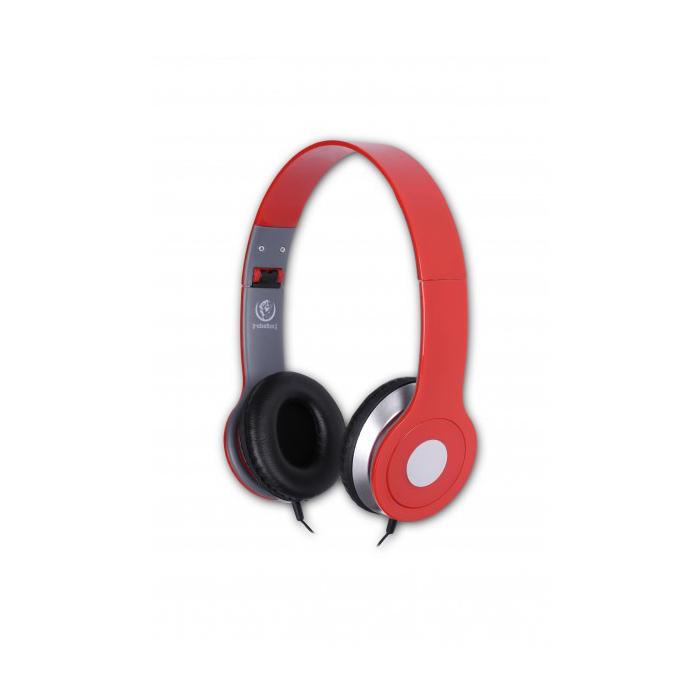 Rebeltec City fejhallgató, piros