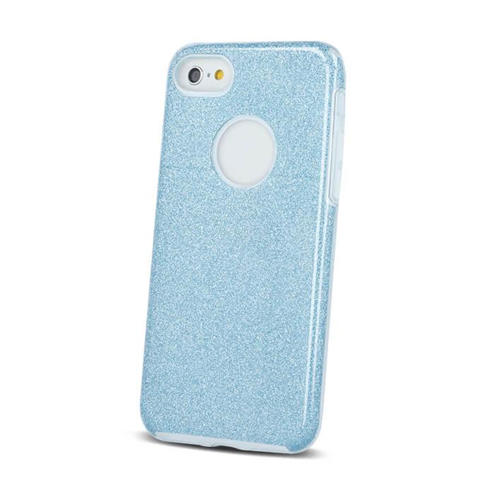 Huawei P8 Lite 2017 / Huawei P9 Lite 2017 csillámos 3in1 tok kék