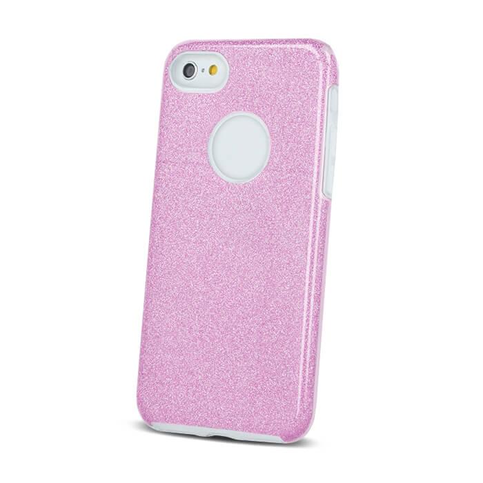 iPhone 6 Plus csillámos 3in1 tok rózsaszín