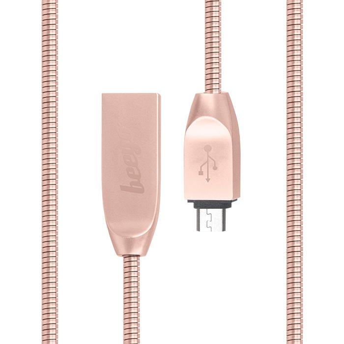 Beeyo Zinc micro-USB kábel okostelefonokhoz rózsaarany