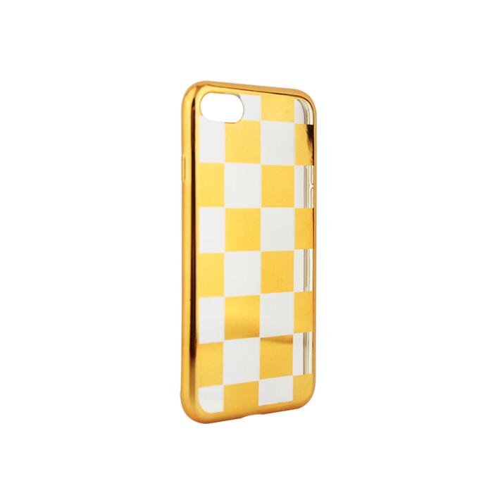 Samsung J3 2017 J330 sakk mintájú tok arany EU verzió