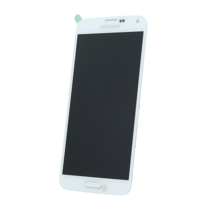 Samsung S5 G900 SM-G900f eredeti LCD kijelző, fehér GH97-15959A