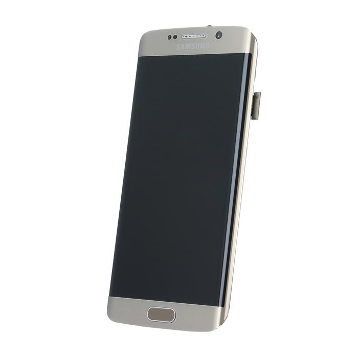 Samsung S6 Edge G925 SM-G925f eredeti LCD kijelző, arany GH97-17162C