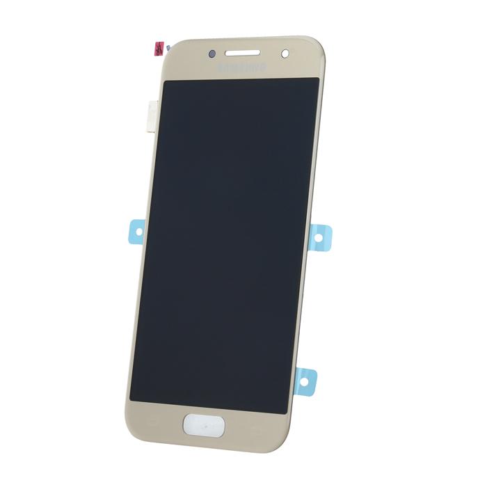 Samsung A3 2017 A320 SM-A320f eredeti LCD kijelző, arany GH97-19732B
