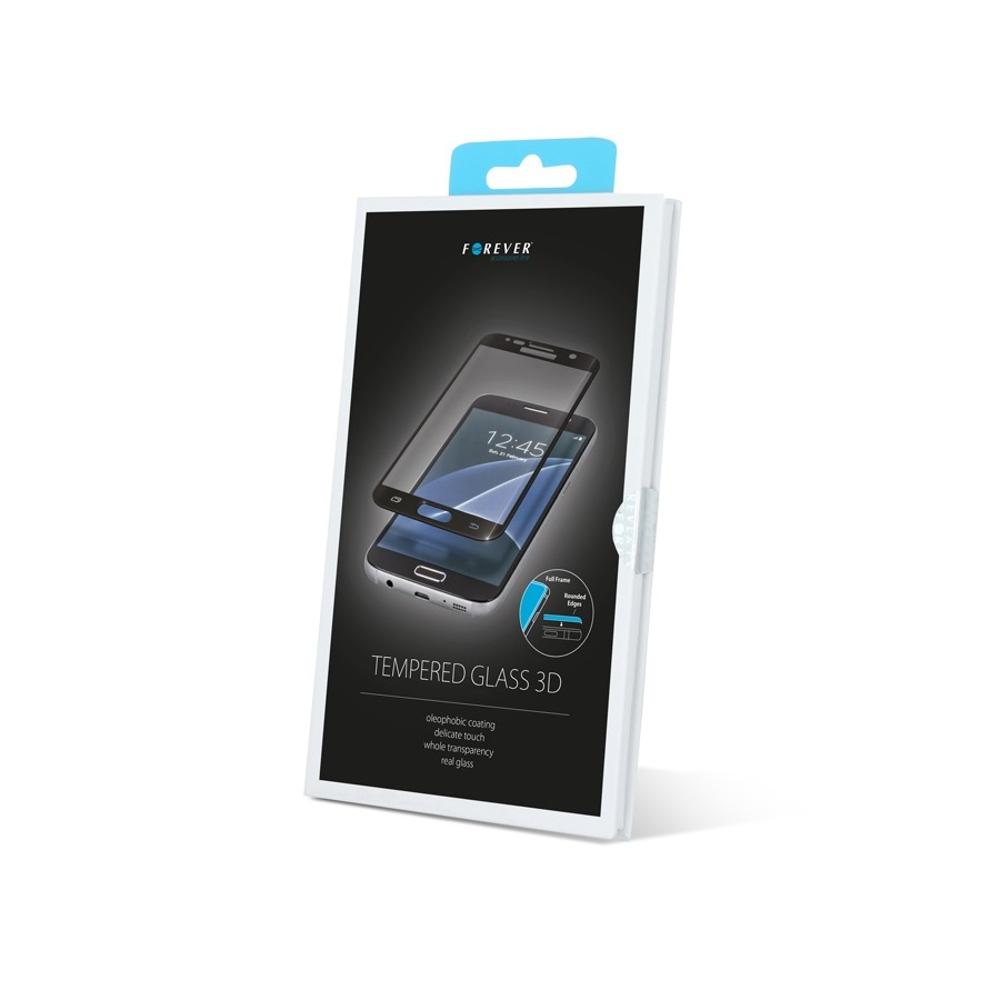 Forever 3D Képernyővédő prémium edzett üveg Huawei P10 Plus telefonhoz fekete