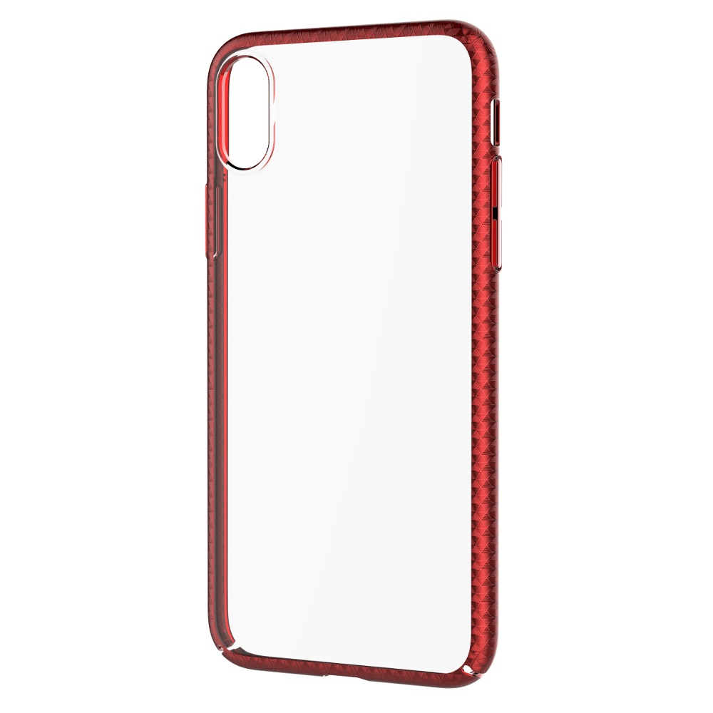 DEVIA Luxurious tok iPhone X/ iPhone XS, piros
