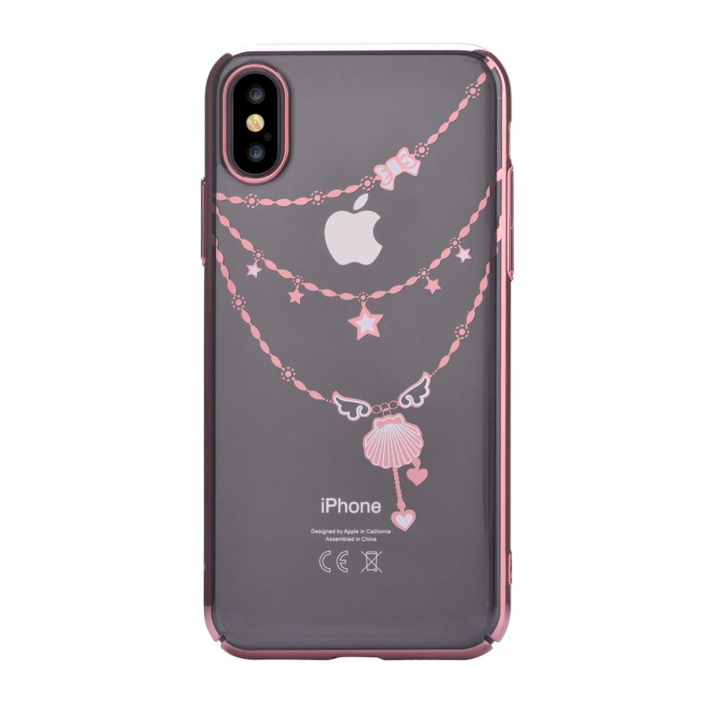 DEVIA Shell tok iPhone X/ iPhone XS, rózsa arany