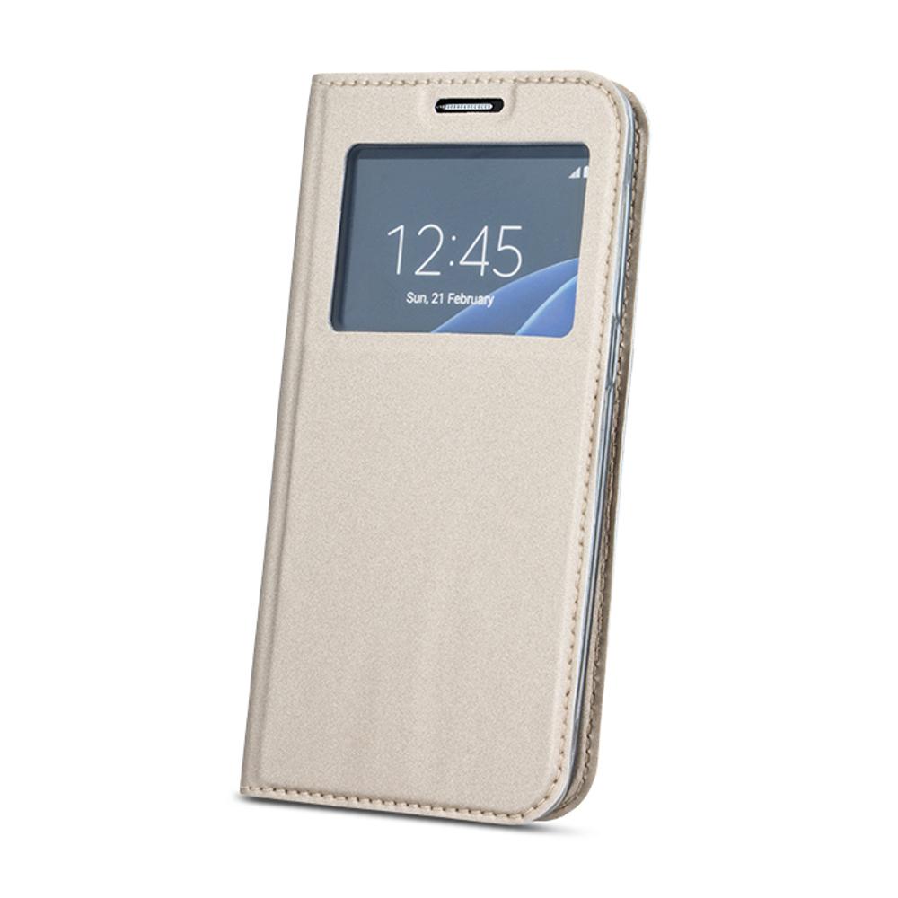 Samsung S10 Plus intelligens megjelenésű tok arany