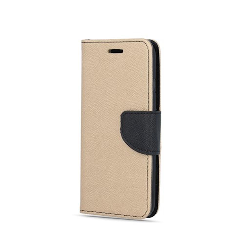Huawei Y7 2019 okos díszes tok arany-fekete