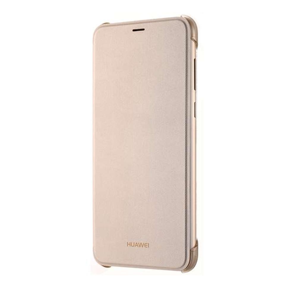 Huawei P Smart gyári oldalra nyíló flip tok, arany