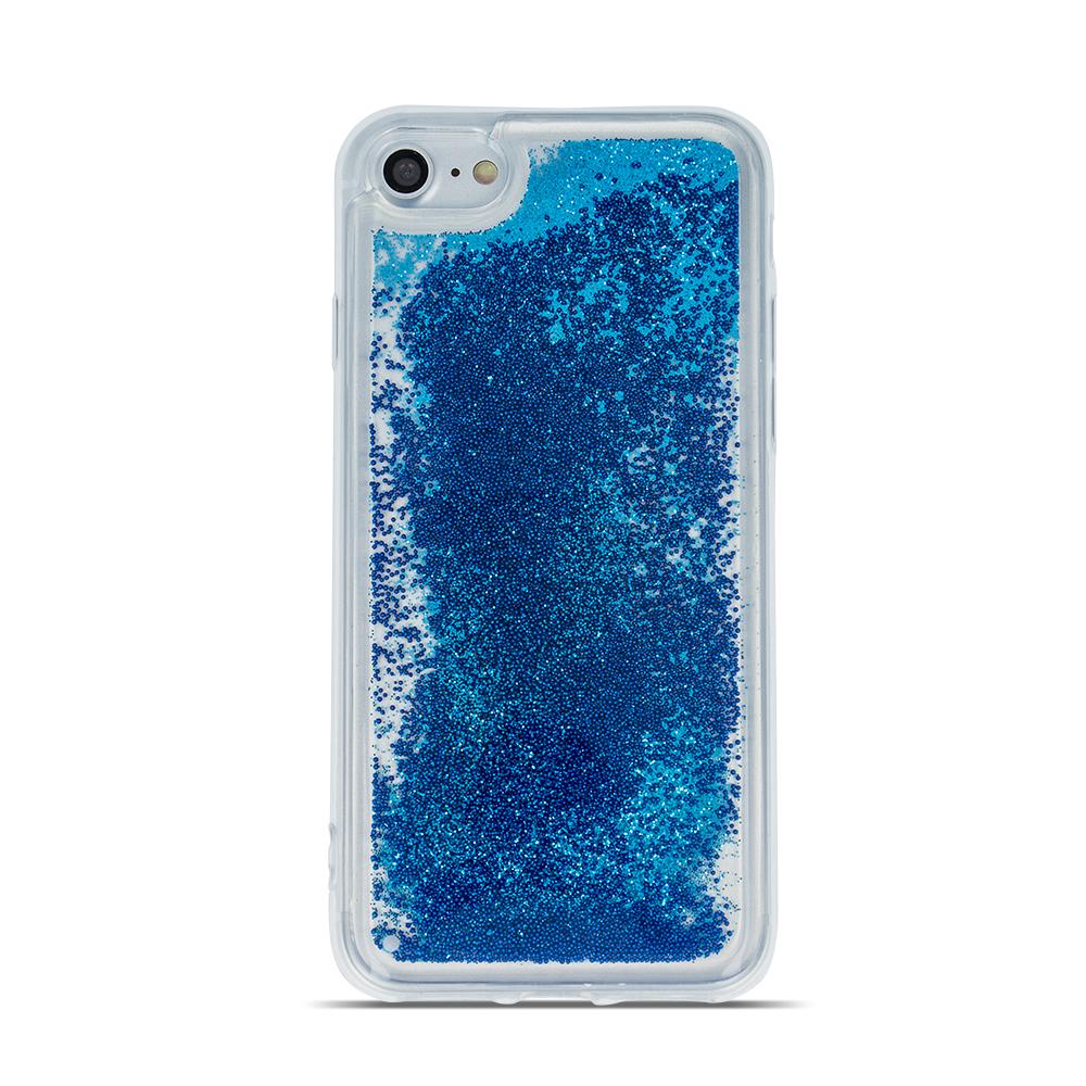 Motorola Moto G7 Play folyékony csillámos TPU tok3 kék
