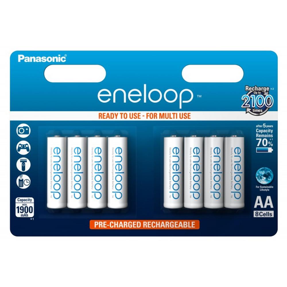 Panasonic R6 Eneloop akkumulátor AA 1900mAh szett 8db