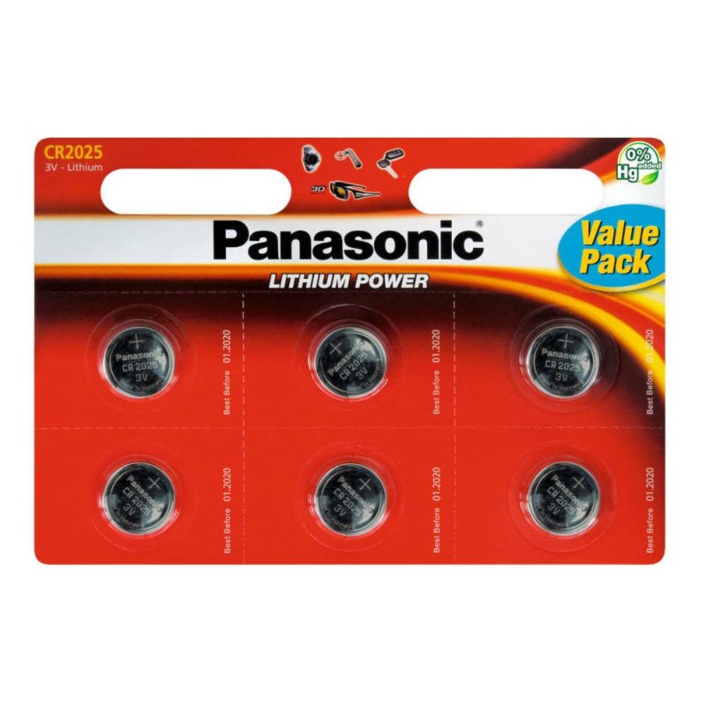 Panasonic CR2025 lítium akkumulátor szett 6db
