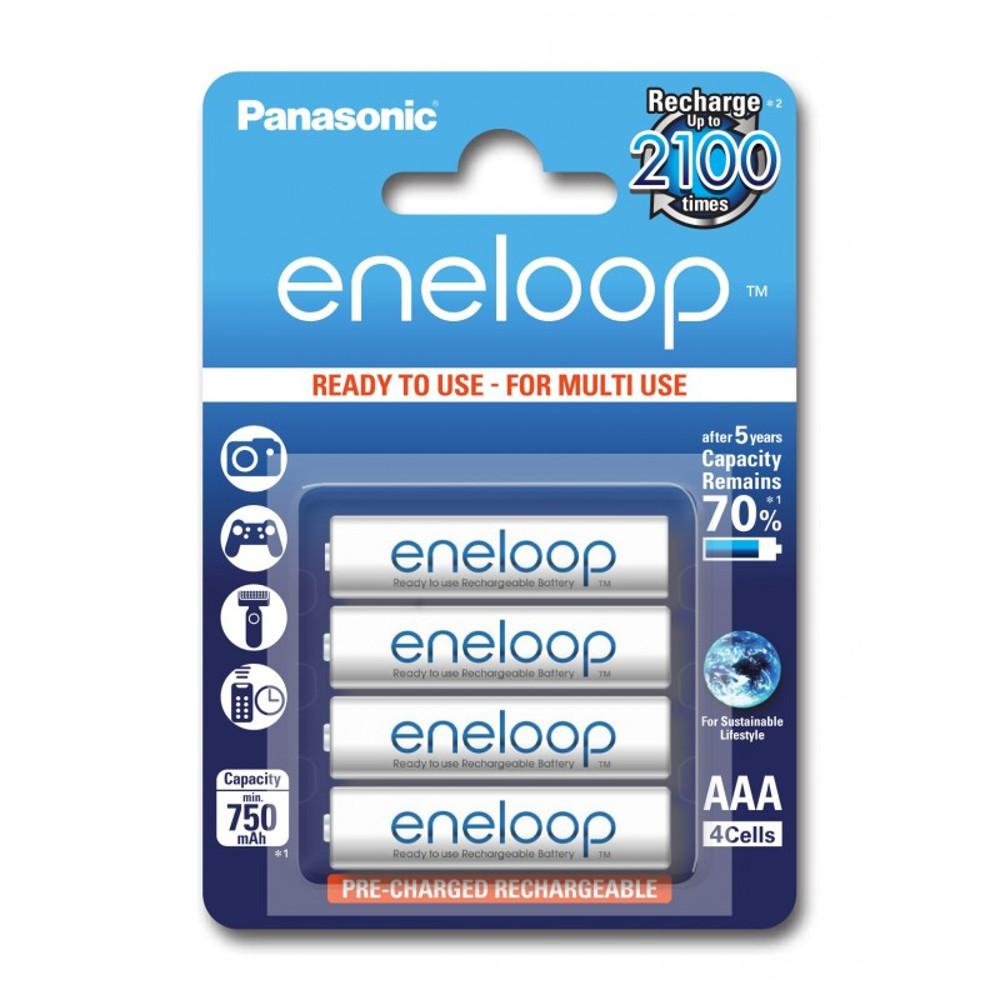 Panasonic R03 Eneloop akkumulátor AAA 750mAh szett 4db