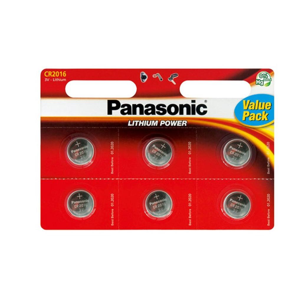 Panasonic CR2016 lítium akkumulátor szett 6db