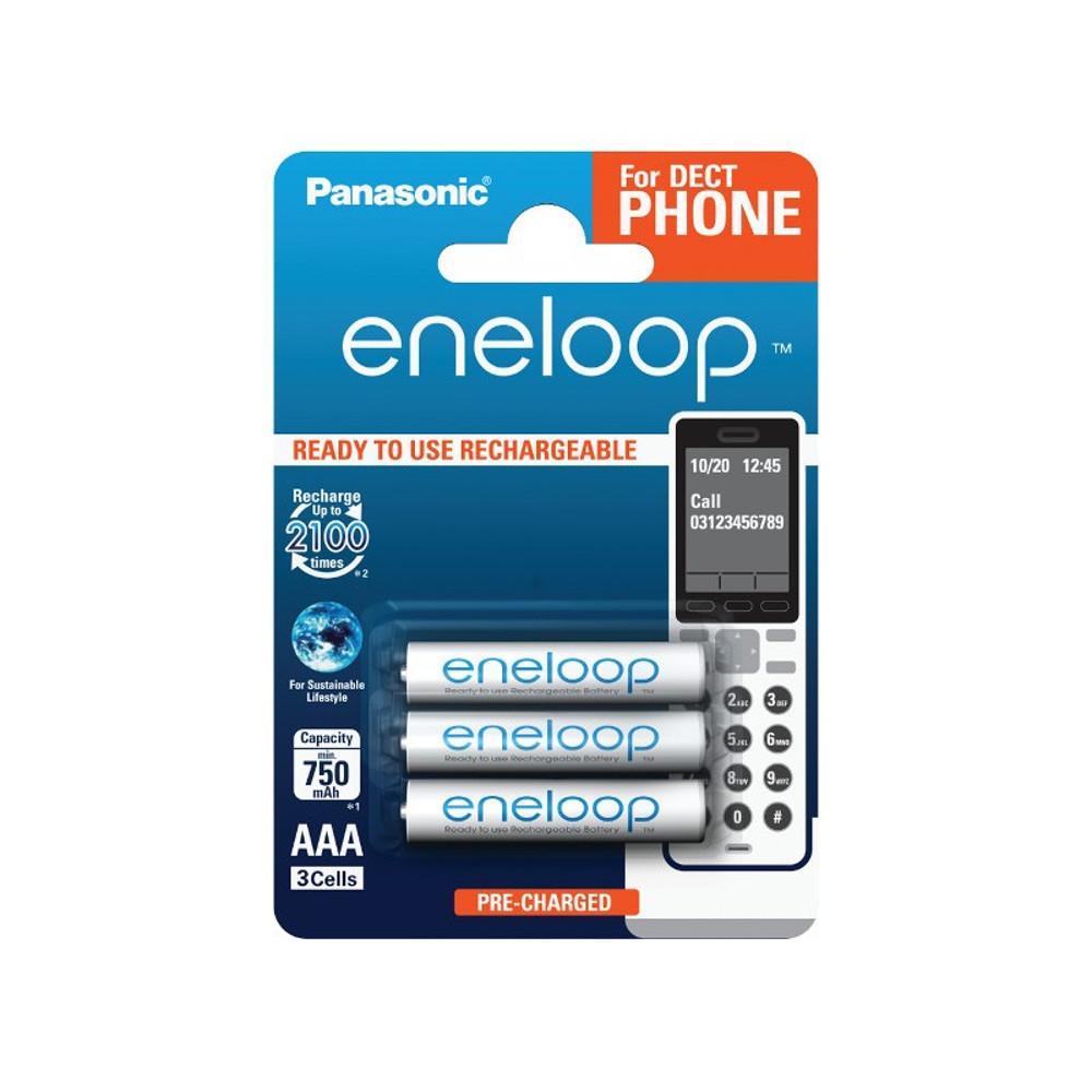 Panasonic R03 Eneloop akkumulátor AAA 750mAh szett 3db (Dect telefonhoz)