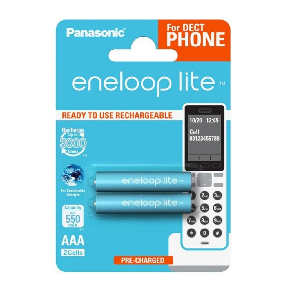 Panasonic R03 Eneloop Lite akkumulátor AAA 550mAh szett 2db (Dect telefonhoz)