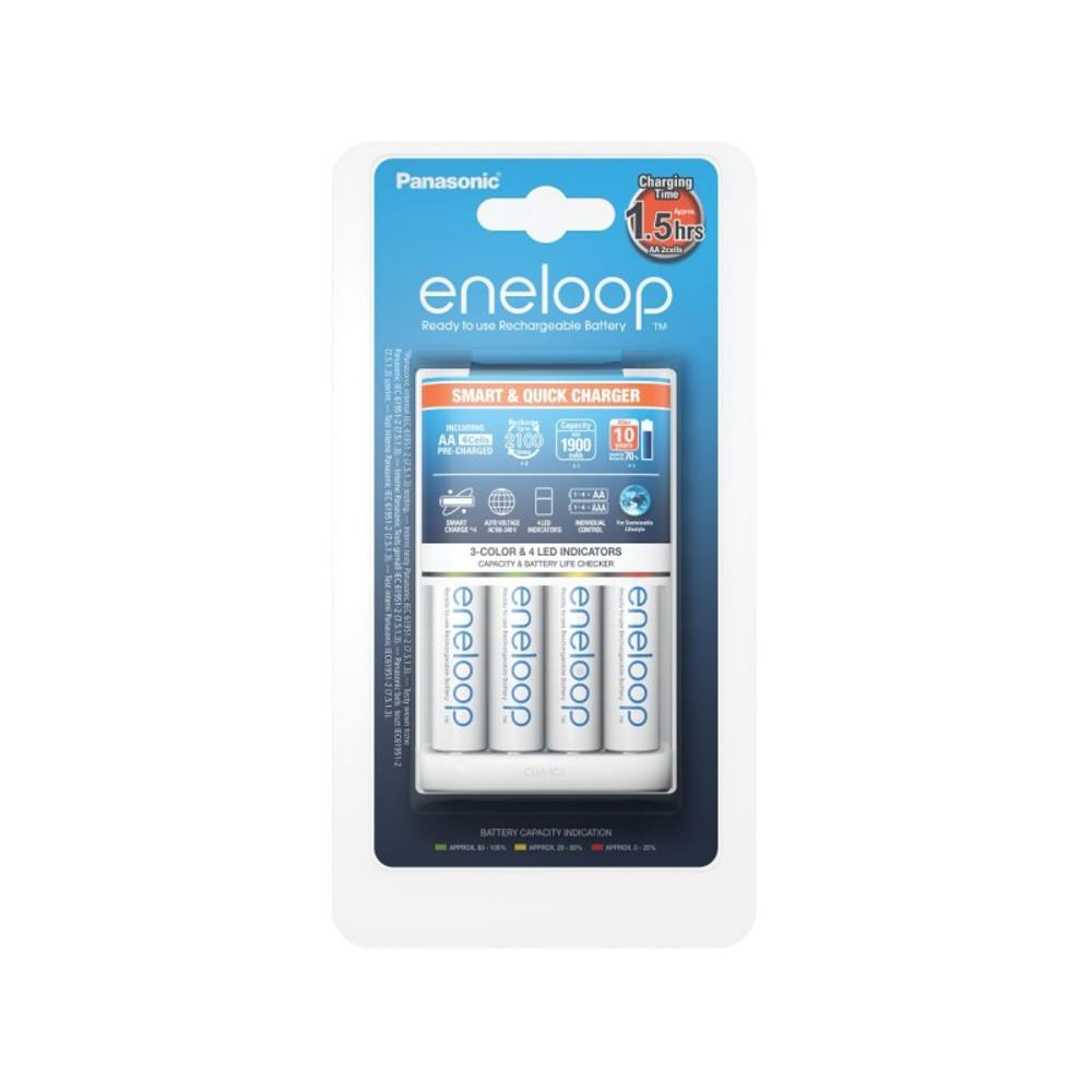 Panasonic BQ-CC55 töltő  + 4 x R6/AA Eneloop 1900 mAh