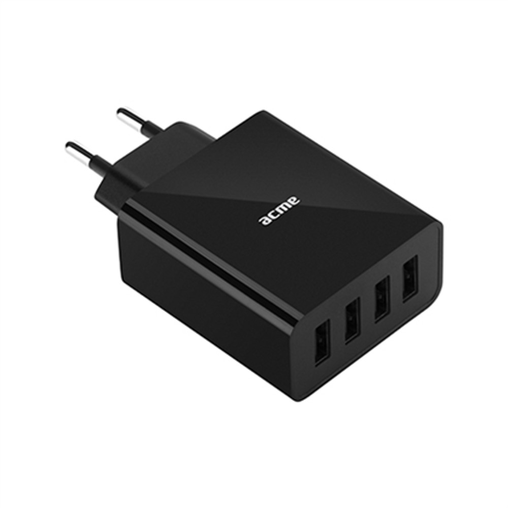 Acme Europe CH207 fali töltő 4xUSB (5 A) fekete