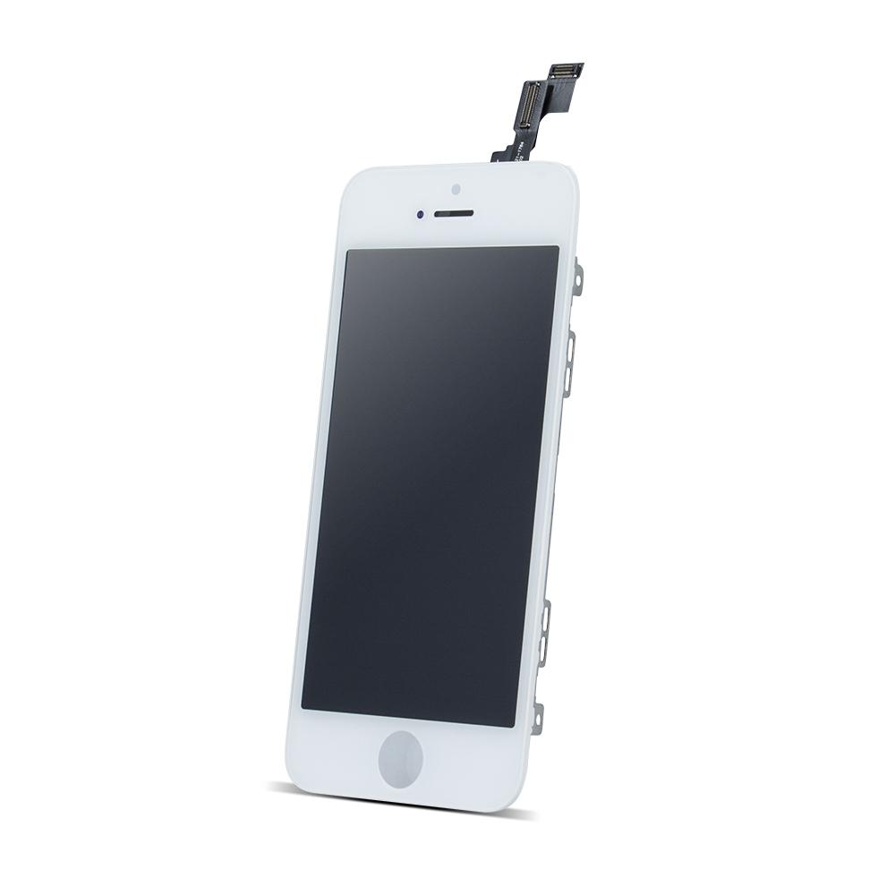 iPhone 5s LCD kijelző + érintőpanel, fehér, AAA minőség, TM