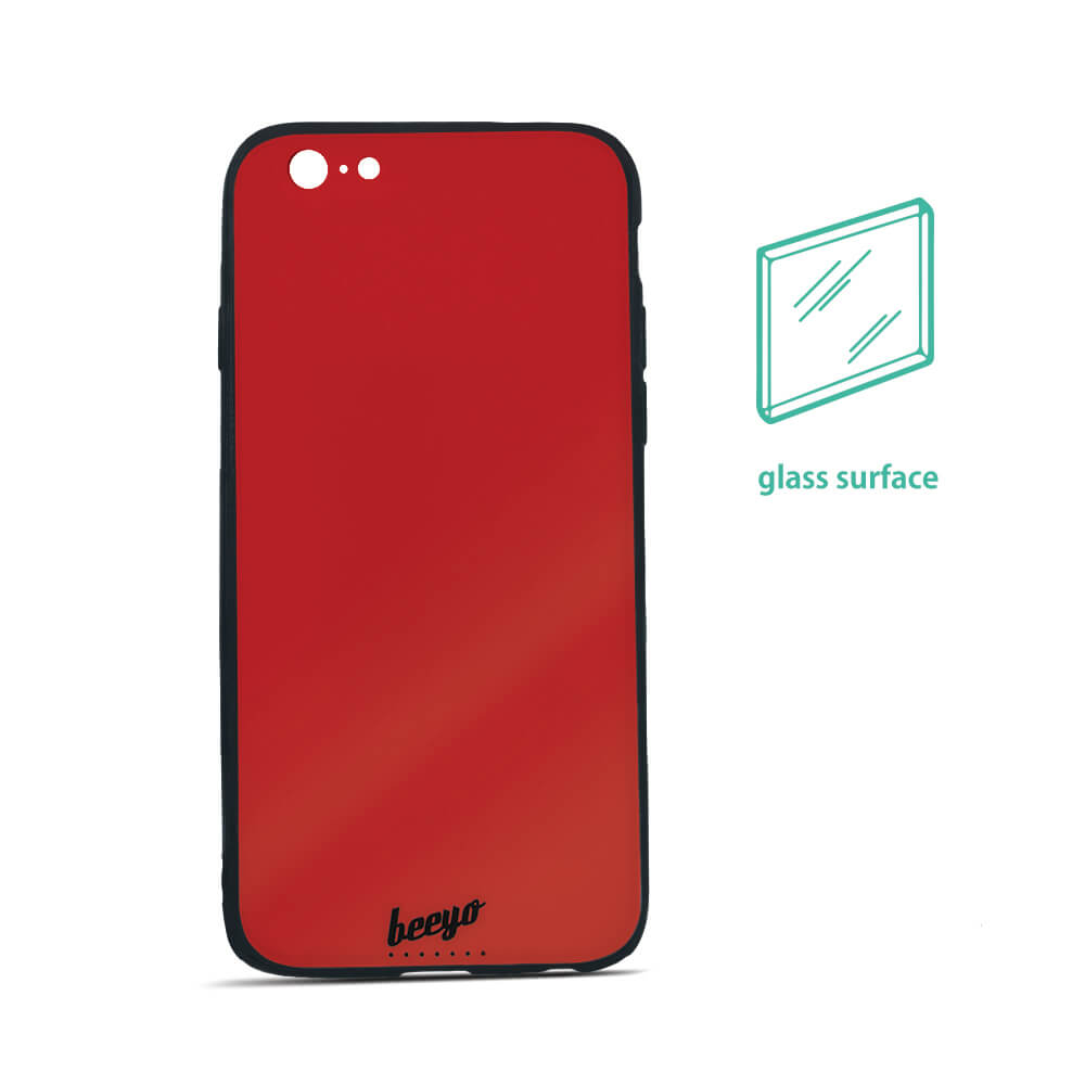 Beeyo Üveg tok iPhone 6 Plus / iPhone 6s Plus piros