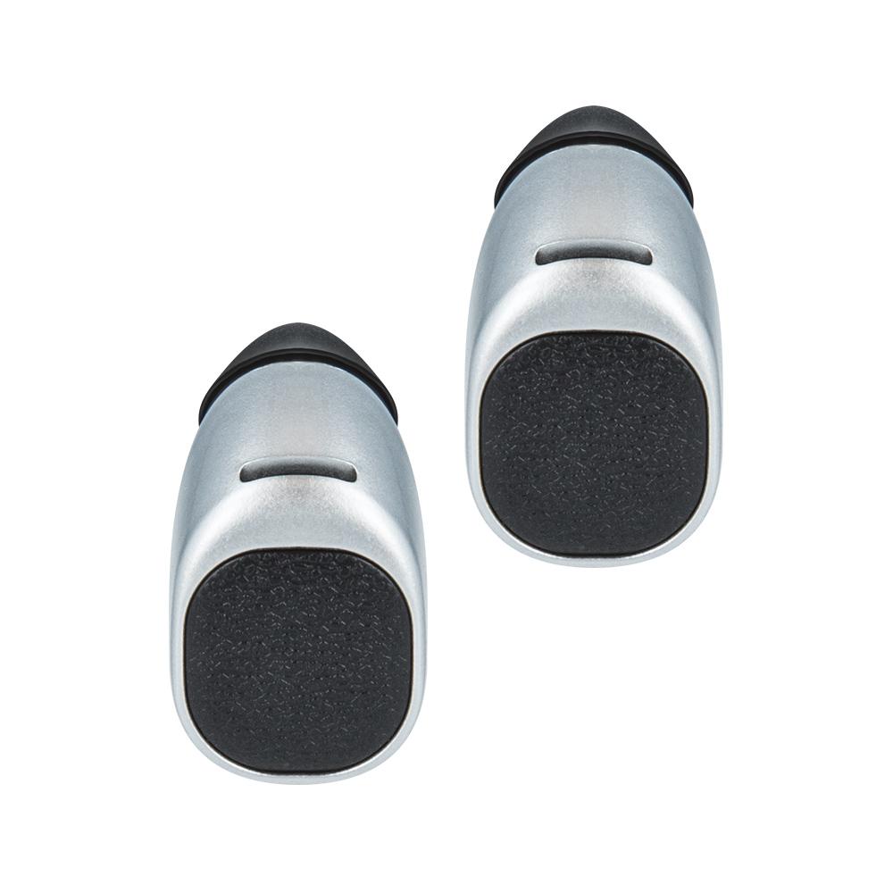 Forever TWE-200 bluetooth headset + töltő tokkal ezüst