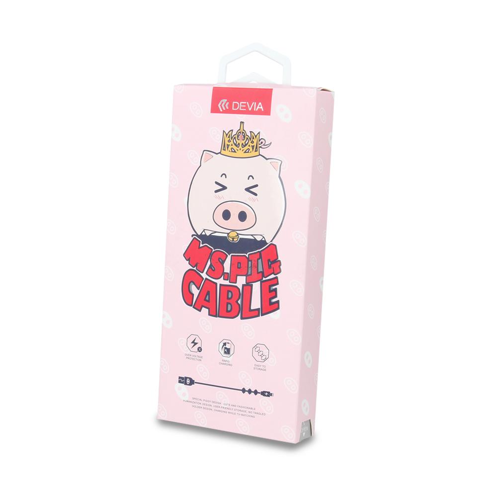Devia Mini Pig kábel iPhone-hoz, fehér